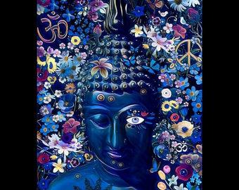 Buddha Floral Night Print