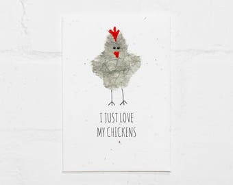 Chickens Love Plantable Card