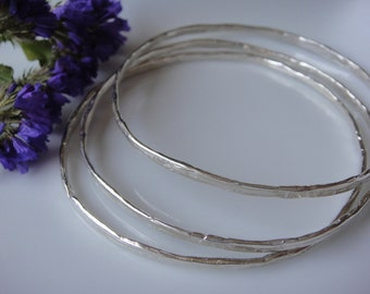 1 pc. 925 sterling silver hammered bangle,jewelry, sterling silver bracelet, bangle, bracelet, hammered bracelet,