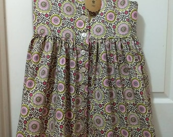 Girl's dress, ready to ship, size 8, Easter dress, summer dress, floral, new, handmade