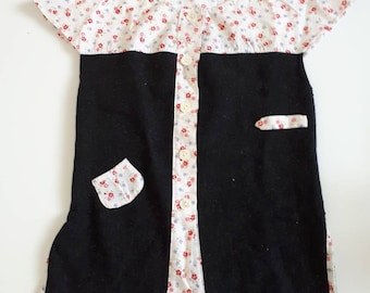 Dress 2 years girl vintage retro floral felt
