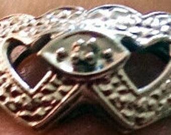 Vintage 10K White Gold Ring with Diamond