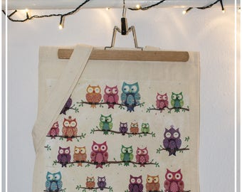 Totebag with owls - handmade