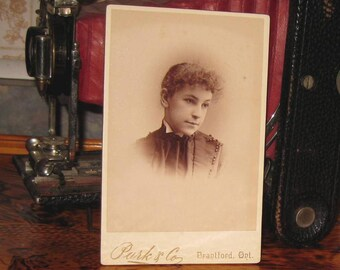 Young Woman Antique Cabinet Photo Brantford Ontario Photographer Ont