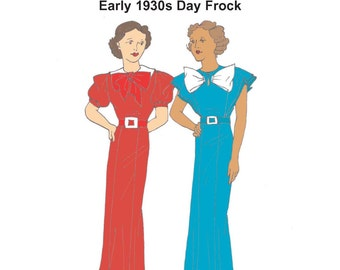 RH1305 — 1930s Day Dress