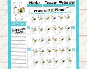 Jellybean Taking pictures  --- Planner Stickers --- 483