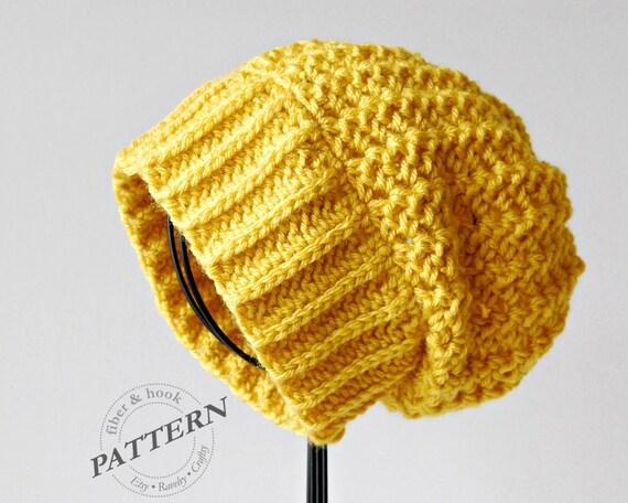 Crochet Pattern Boho Slouchy Beanie Crochet Slouch Hat