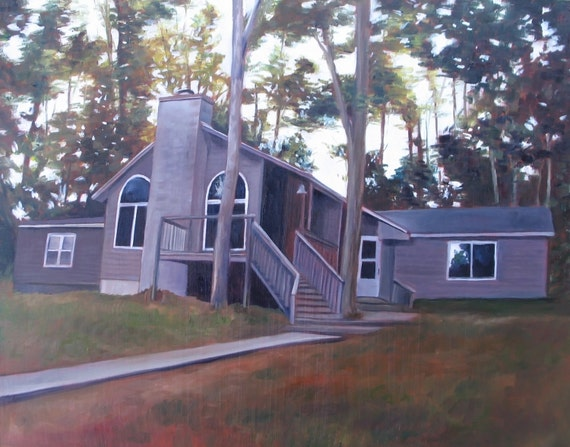 Custom House Painting - House Portrait - Painting of Home