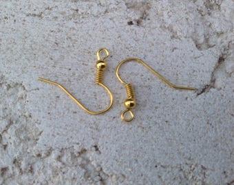 Earring hooks gold