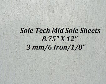 SoleTech Midsoling Rubber Sheets, 3 mm Rubber Mid Soles, Shoe Supplies, Outdoor Shoe Supplies