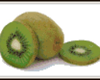 Kiwi Cross Stitch Pattern - PDF Download