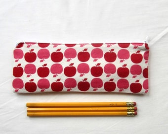 Skinny Apples Zipper Pouch / Pencil Case