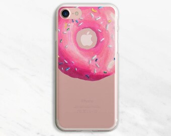 Pink Donut iPhone 7 Case iPhone 6 Case Clear iPhone 6 Plus Case Donut iPhone Case Clear iPhone 7 Plus Case iPhone 6s Case iPhone 6s Plus