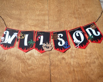 Personalized Pirate Party Banner