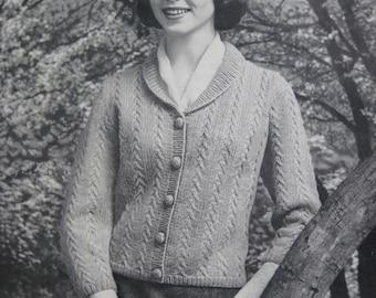 1960's Knitted Sweater PDF Pattern, Vintage Pattern Women's Sweater 732-8