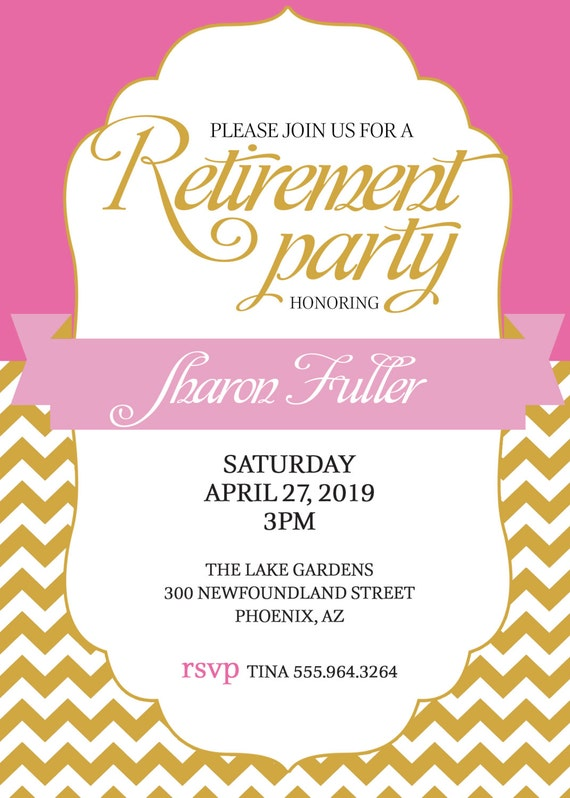 flyer for retirement party