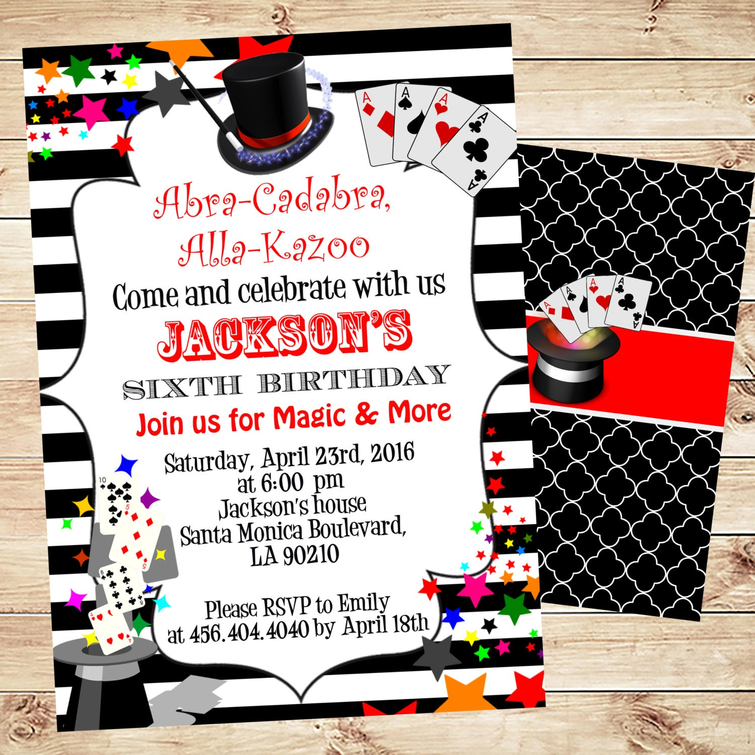 Magic birthday party invitation printable Birthday Party