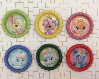 Princess Palace Pets Inspired Bottle Caps Necklace/ Keychain/ Zipper Pull