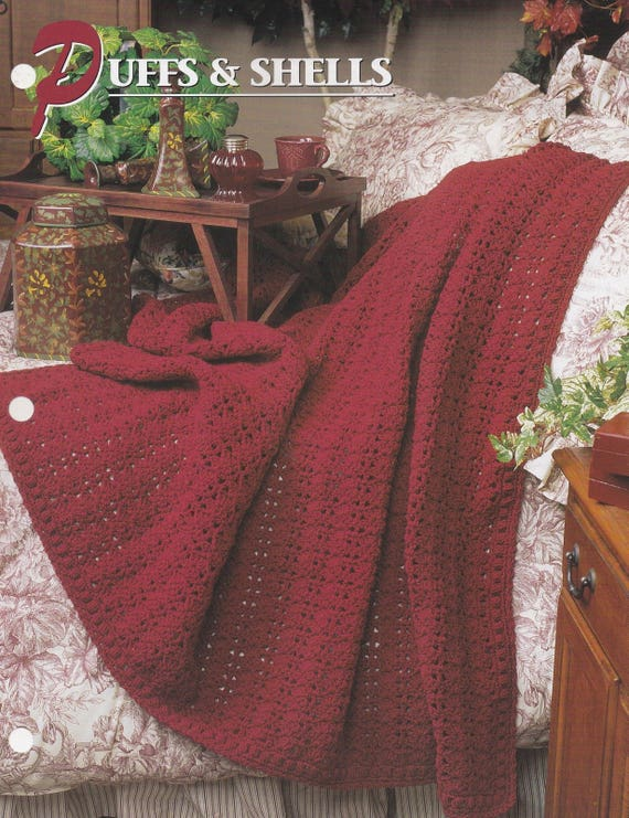 Puffs & Shells Annie\'s Attic Quilt and Afghan Pattern