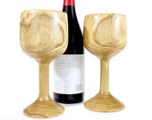 Wine Glass Set Made from Chestnut Wood