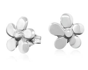 Sterling Silver Flower Earrings - Stud Earrings Gift for Her - Tiny Stud Earrings - Minimal Earrings - Delicate Earrings