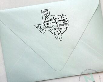 Custom Design State Address Stamp