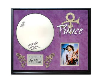 Prince Signed Tambourine in Framed Case