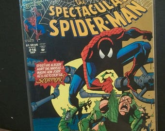 1994 The Spectacular Spider-Man #216 Aug Scorpion  The Predator and The Prey Pt.2  VF-NM Unread Condition  Vintage Marvel Comic
