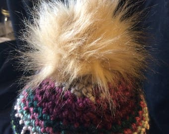Whimsical multi-color beanie