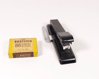 Vintage Bostitch B8 Stapler with Vintage Staples Vintage Industrial Office - S18