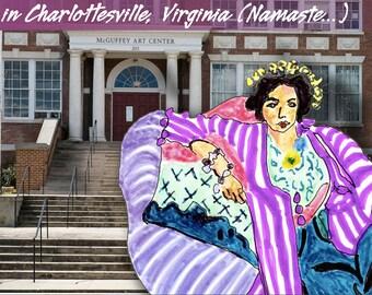 Expressing my inner self... The McGuffy Art Center in Charlottesville, Virginia