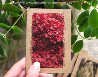 Red Autumn Notebook 40 - Small Pocket Size - Mini Journal for Travel, for your Inspiration