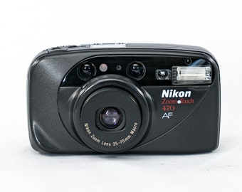 Nikon ZoomTouch 470 AF 35mm Film Camera with Nikon Zoom 35-70 Lens, Macro and Date Back Module