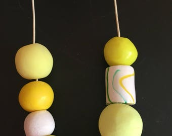 CLEARANCE Yellow polymer necklace