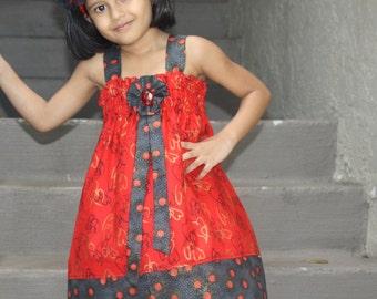Girls Red Dress, Girls party dress, Girls Red Dress, Baby Dress, Toddler Dress, Summer Dress, Birthday Dress, Girls Spring Dress
