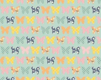Riley Blake A Beautiful Thing Butterflies Blue (Half metre)