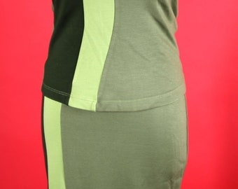 Green Lew Magram Collection Matching Skirt and Top