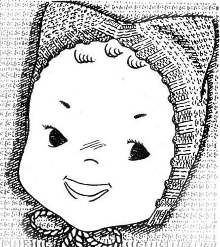 Knit Baby Kitten Cap Hat Bonnet Knitting Pattern 3 Month Size