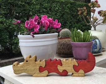 Wooden toy, Kids gift, alligator, Crocodile, Reptile, Swamp creature, Birthday gift, Wooden puzzle, Wood puzzle, Wood toy, jigsaw puzzle.