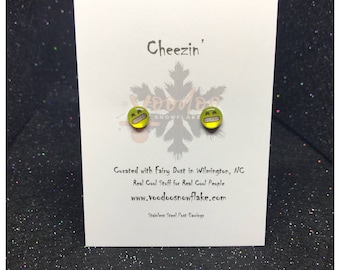 CHEEZIN' Emoji Button Post Earrings