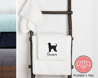 Afghan Hound Embroidered Towel