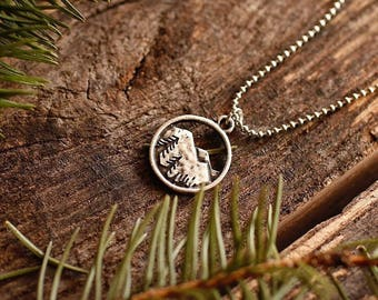 Mountain Spirits Necklace | Pine Trees | Nature | Wilderness | Hiking | Camping | Outdoors | Bridesmaid