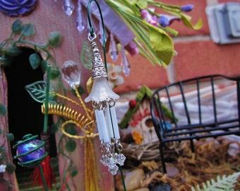 Fairy Garden Wind chime, Miniature Wind Chime, fairies wind chimes, Swarovski Crystals, Fairy Garden Accessories, Handmade, QTY 1, Fairies