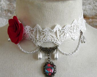 Baroque, Victorian Necklace: 4, playing cards (oil painting)