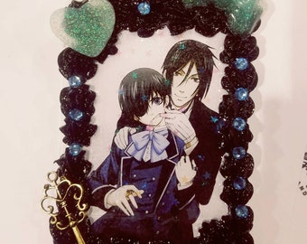 Black butler IPhone X Decoden case