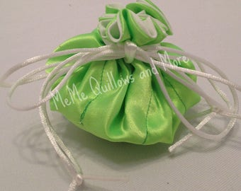 Lime Green Large Travel Jewelry Bag