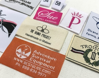 500 custom clothing labels, hem tags, hem labels, pip woven tag, woven tag, clothing tag, woven label custom, clothing labels