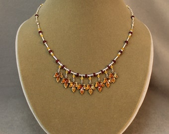 Autumn Leaves Necklace and Earrings Set