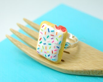 Food Ring // Miniature Pop Tarts Ring // Adjustable Ring // MADE TO ORDER