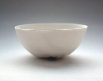 Small porcelain bowl. Decorative stoneware English fine bone china small bowl with green hue.